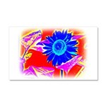 Blue Sunflower Car Magnet 20 x 12