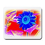 Blue Sunflower Mousepad