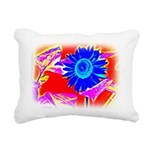 Blue Sunflower Rectangular Canvas Pillow