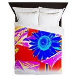 Blue Sunflower Queen Duvet