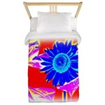 Blue Sunflower Twin Duvet