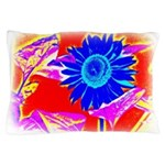 Blue Sunflower Pillow Case