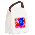 Blue Sunflower Canvas Lunch Bag