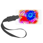 Blue Sunflower Luggage Tag