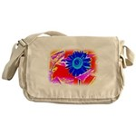 Blue Sunflower Messenger Bag