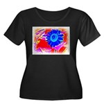 Blue Sunflower Plus Size T-Shirt