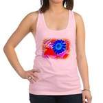 Blue Sunflower Racerback Tank Top