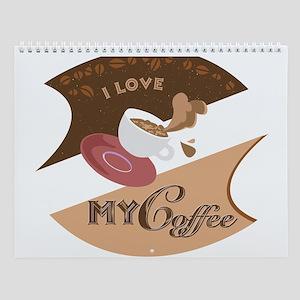 I Love My Coffee Retro Wall Calendar