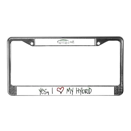 Hybrid Car License Plate Frame