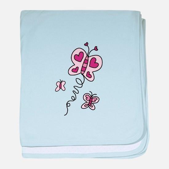 Butterfly baby blanket