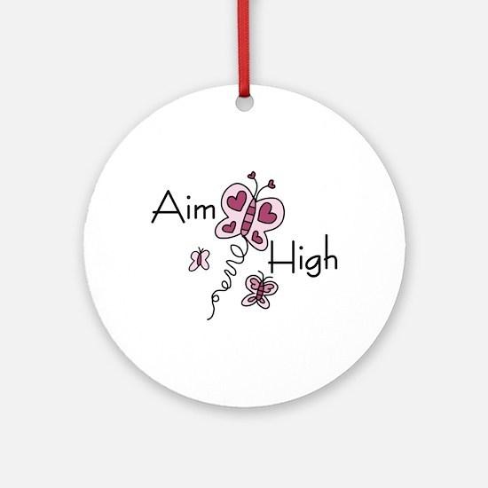 Aim High Ornament (Round)
