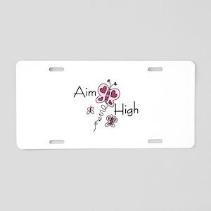 Aim High Aluminum License Plate
