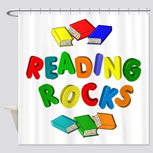 READING ROCKS Shower Curtain