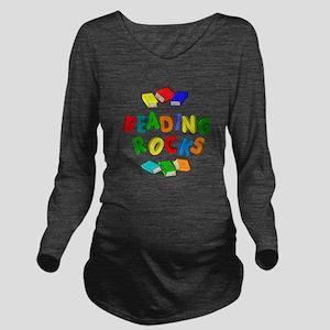 READING ROCKS Long Sleeve Maternity T-Shirt