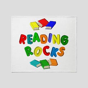 READING ROCKS Throw Blanket