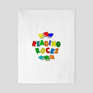 READING ROCKS Twin Duvet