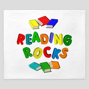 READING ROCKS King Duvet