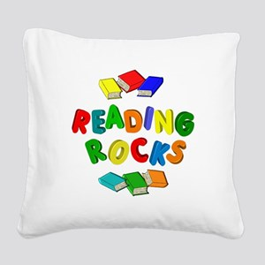 READING ROCKS Square Canvas Pillow