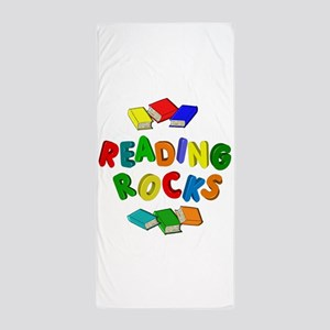 READING ROCKS Beach Towel