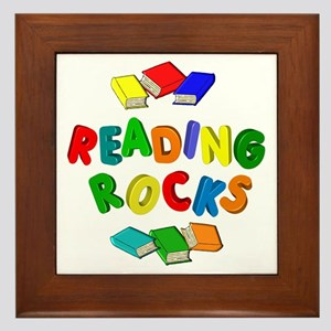 READING ROCKS Framed Tile