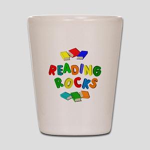 READING ROCKS Shot Glass