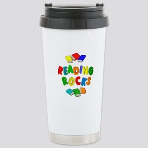 READING ROCKS Stainless Steel Travel Mug