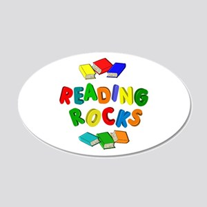 READING ROCKS 20x12 Oval Wall Decal