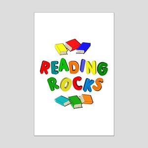 READING ROCKS Mini Poster Print