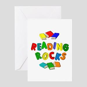 READING ROCKS Greeting Card