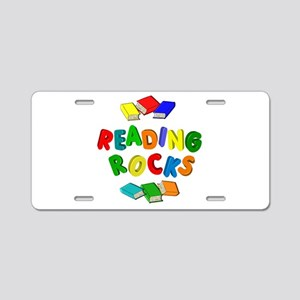 READING ROCKS Aluminum License Plate