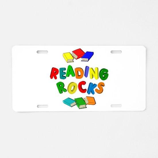 READING ROCKS Aluminum License Plate