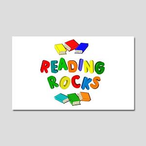 READING ROCKS Car Magnet 20 x 12