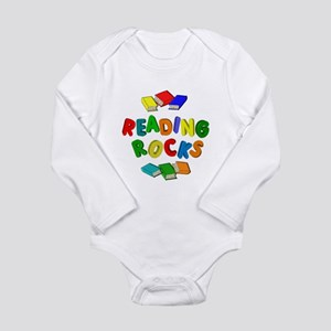 READING ROCKS Long Sleeve Infant Bodysuit