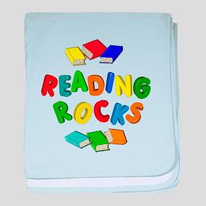 READING ROCKS baby blanket