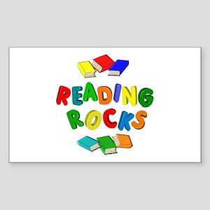 READING ROCKS Sticker (Rectangle)