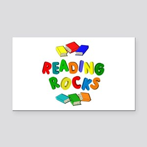 READING ROCKS Rectangle Car Magnet