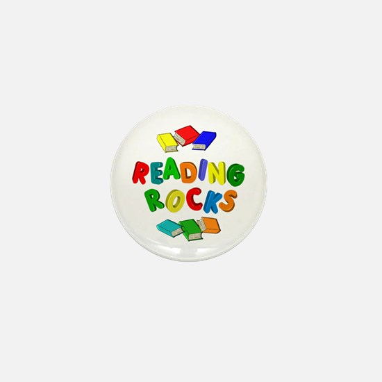 READING ROCKS Mini Button