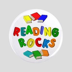 "READING ROCKS 3.5"" Button"