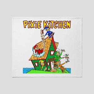 Pixie Kitchen - 5 Pixies Throw Blanket