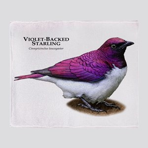 Violet-Backed Starling Throw Blanket
