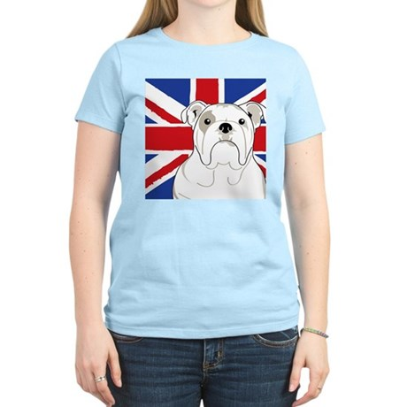 Bulldog Square English Flag T-Shirt