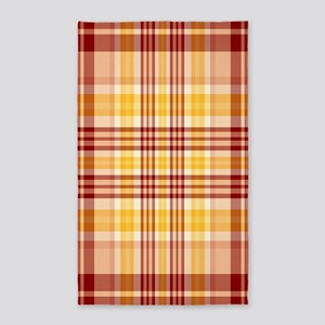 Bacon and Egg Plaid 3'x5' Area Rug