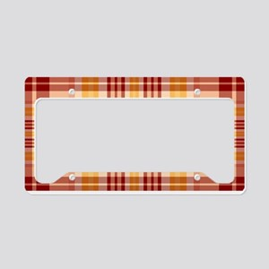 Bacon and Egg Plaid License Plate Holder
