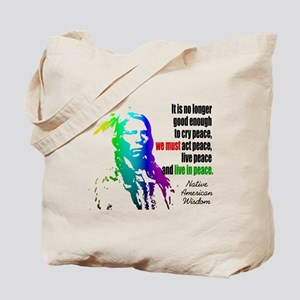 Live in Peace Tote Bag