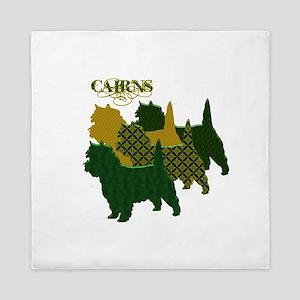 Cairn Terrier Silhouttes Queen Duvet