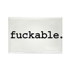 fuckable. Rectangle Magnet (100 pack)