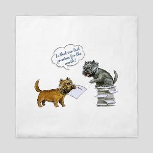 Cairn Terrier Premium Queen Duvet