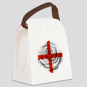 English Rose Flag Canvas Lunch Bag