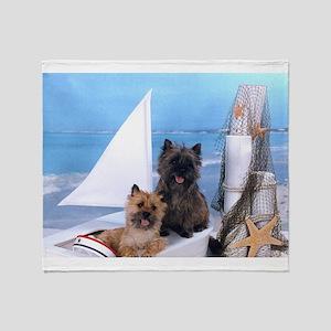 Cairn Terrier Boat Boys Throw Blanket