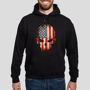 American Flag Skull Hoodie (dark)